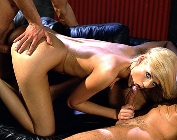 Private  porn video: Two Guys Want to Double Penetrate the Lovely Blonde Claudia
