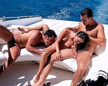 Private  porn video: Kristina Bella Has a MMF Threeway with a DP on Back of Speeding Boat