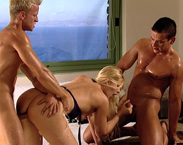 Private HD porn video: Sandra Mark Visits Two Guys for a MMF Threeway with a Blowjob and a DP