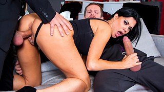 Busty Jasmine Takes Two Dicks