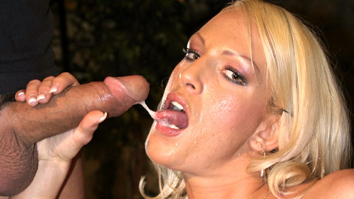 Judith Blond Sucks A Stiff Dick