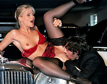 Private  porn video: Blonde Kathy Fucks Her Date in the Garage by the Cars