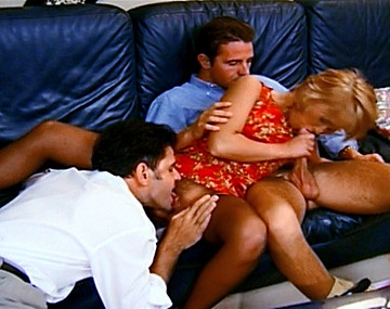 Private  porn video: Sharon Enjoys Two Cocks and a Double Penetration in the Office