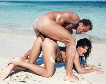Private HD porn video: Brunette Veronica on the Beach Getting Her Pussy Filled