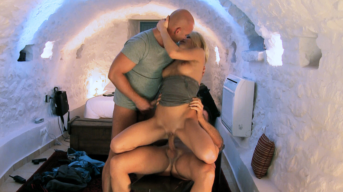 Miky Gold Is Double Fucked in This Hardcore MMF Threeway with Facials