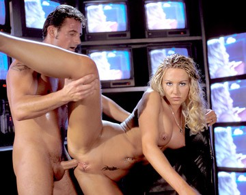 Private  porn video: Sandra Is Shown on Video Screens and the Guy Fucks Her Later