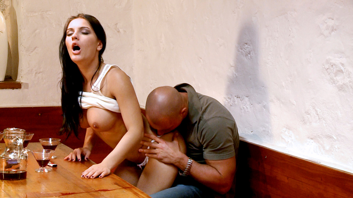 Honey Demon Allows Her Boyfriend to Suck Her Boobs and Kiss Her Ass