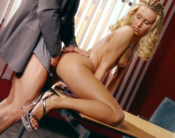 Private  porn video: Boss Screws Sexy Blonde Secretary Sandra Iron for Facial Cumshot