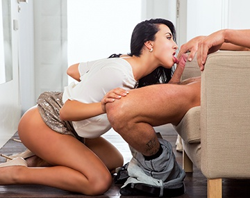 Private HD porn video: Sexy Brunette Ana Gets Laid at the Workplace and Enjoys Every Minute