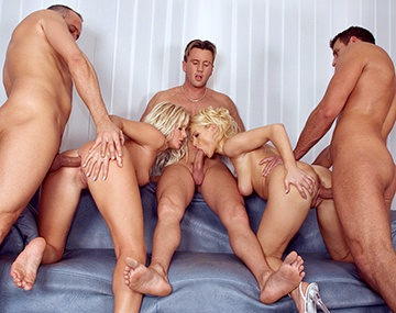 Private  porn video: Kathy Anderson y Nikki Sun, dos modelos y tres sementales en una orgía