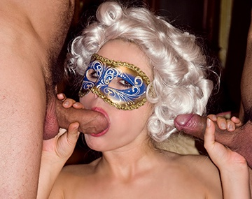 Private  porn video: Tit-Fucking Anastasia Is a Busty Masked Babe Who Loves DP