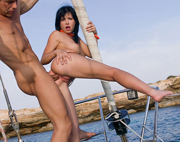 Private  porn video: Stunning Brunette Rebeca Linares Takes an Anal Boat Blasting