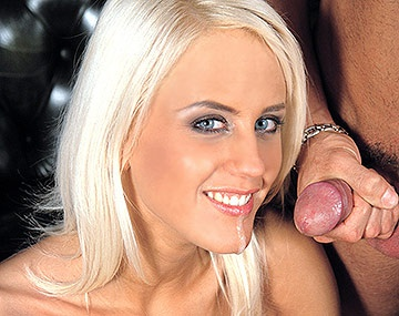 Private  porn video: Blonde Babe Cintia Spills Cum on Her Perky Tits