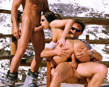 Private  porn video: Vanessa Virgin Rides Out an Anal Threeway in the Alps