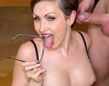 Private HD porn video: Yasmin Scott MILF and Secretary Gets Cum on Her Glasses