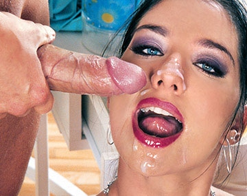 Private  porn video: Lara Stevens Sucks Balls and Takes a Facial Cumshot