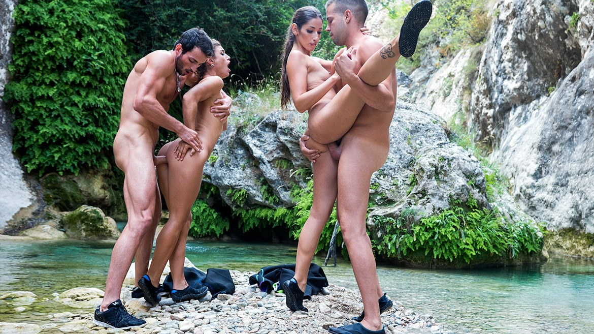 Orgy On The River for Julia Roca and Clea Gaultier