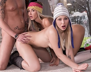 Private HD porn video: Haley Hill and Katrin Tequila Have an Alpine Anal Trio