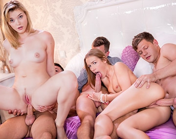Private HD porn video: Anny Aurora and Alexis Crystal Celebrate With an Orgy