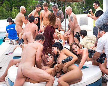 Private video: The biggest orgy ever seen in Ibiza celebrating Henessy's Birthday