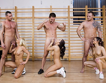 Private HD porn video: Adrianna Ruso and Dorina Golden in Pornolympics Group Hardcore Orgy