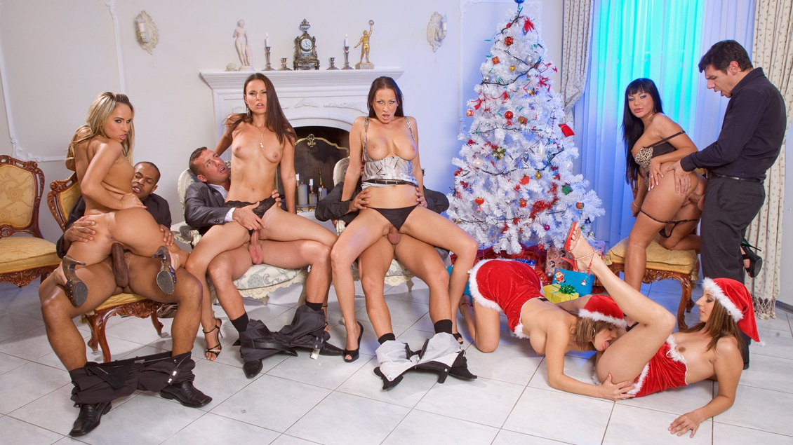 A Christmas Orgy with Mandy Bright and Friends