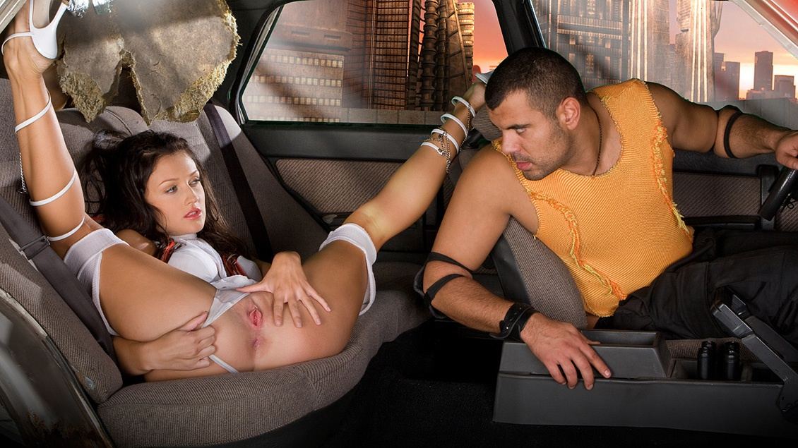 Aletta Ocean Gets Fucked and Sucks Dick in the Back Seat of a Taxi