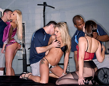 Private HD porn video: Amy Brooke Bobbi Starr and Carla Cox Have an Orgy in Mens Locker Room