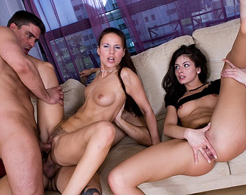 Private  porn video: Claudia Rossi and Lucy Lee MMFF Four Way with Masturbation and DP