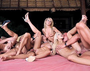 Private  porn video: Alexis and Her Friends Have an Interracial Orgy with Screwing and Oral