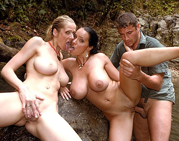 Private  porn video: Jane Darling and Laura Lion Engage in a Hearty Shag by the River