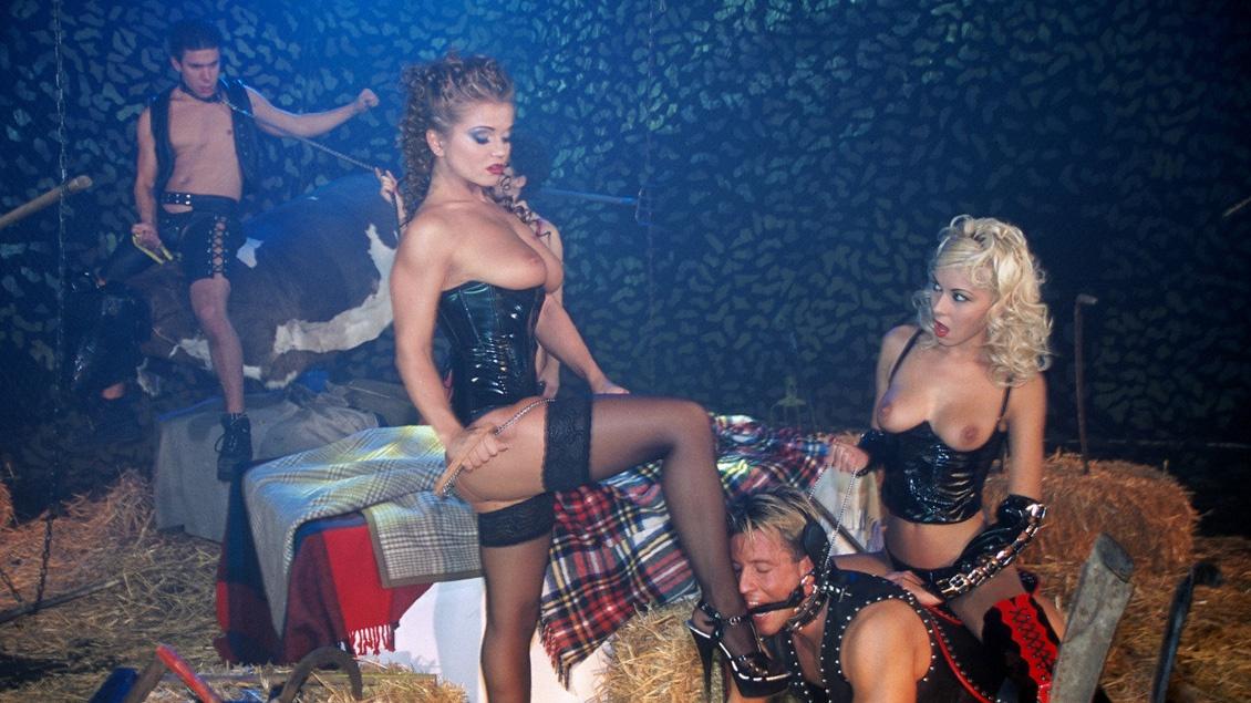 Cameron Cruise, Nikky Blond et Rita Faltoyano exercent leur domination sur deux mecs