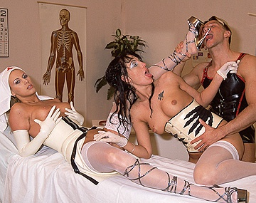 Private  porn video: Nurses Dorothy Match and Melody Kord Examine Hard Dick before Blowjob