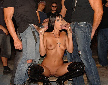 Private HD porn video: Simony Diamond Gets a DP and Gives Several Blowjobs in This Gangbang
