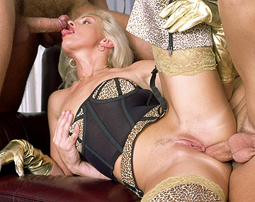 Private  porn video: Christina Is an Amazing Blonde Who Can Ride One Dick While Sucking Two