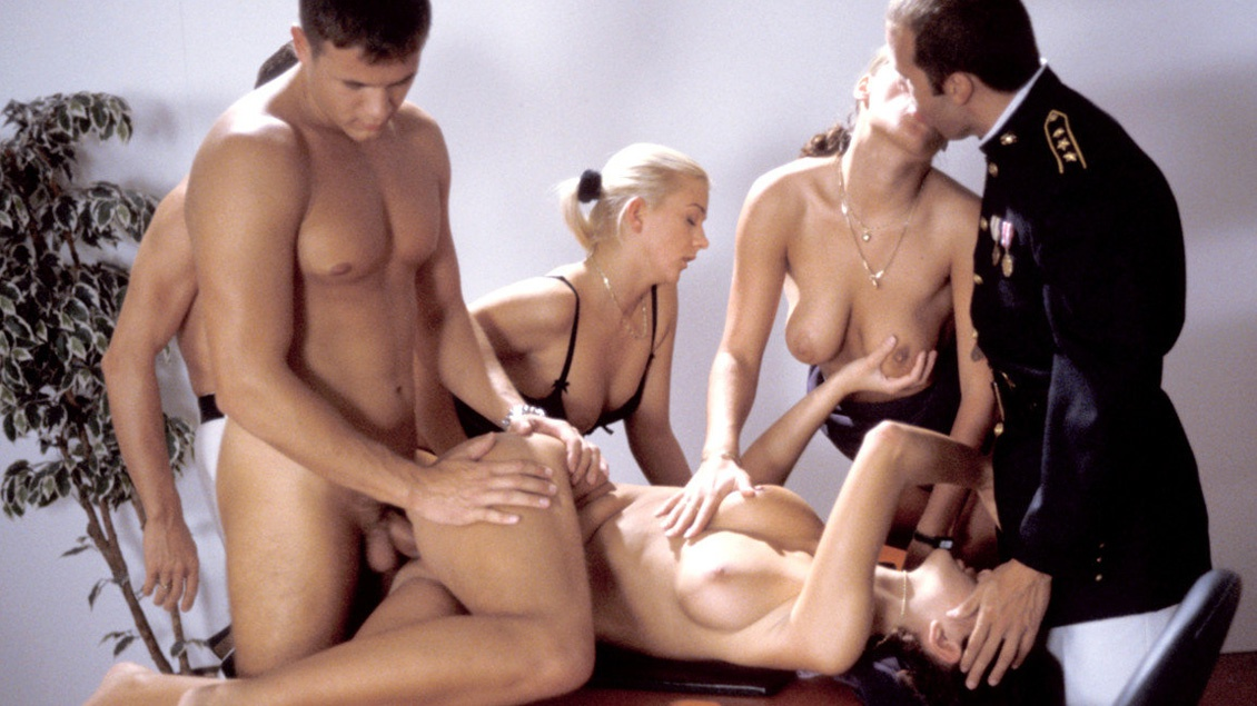 Bisexuals Cristina Nicole Thomson and Noemi Having an Office Orgy
