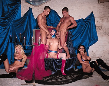Private  porn video: Bisexuals Bambi Bianca and Liz Honey Orgy with Anal and Pussy Licking