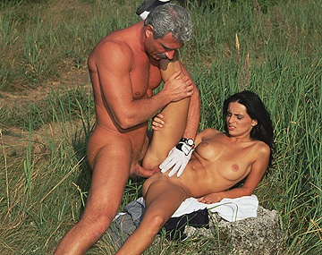 Private HD porn video: Gaby Black Outdoors Getting Asshole and Pussy Penetrated...