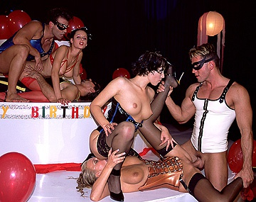 Private  porn video: Alice, Michelle Wild and Myli Gets Screwed during a Birthday Bash Orgy