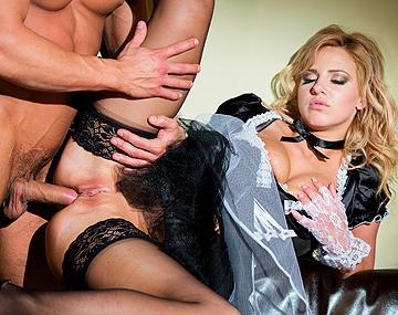 Private HD porn video: Nathaly is een huismeisje dat precies weet hoe ze je pik leeg pijpt
