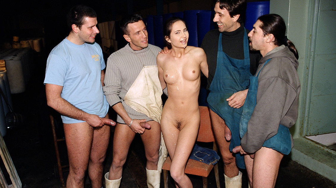 Patricia Diamond Gets Gangbanged by Factory Workers Including a DP