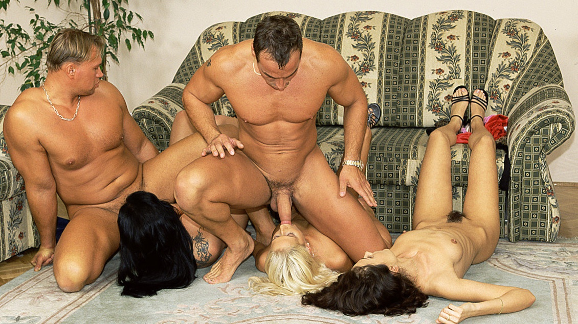 Asian Shan Betty Carla and Sandra Iron Line up for Interracial Anal