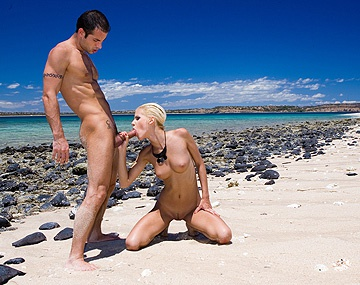 Private  porn video: Boroka Balls Takes a Ride on a Hard Cock While on a Sunny Public Beach