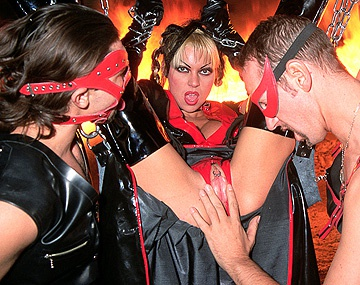 Private  porn video: Monique Covet Is One of 3 Ladies Who Use Men for Sex in This BDSM Clip