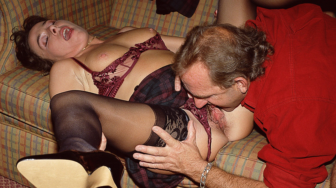 The Lovely Holly Masturbates While an Older Man Is Fucking Her Asshole