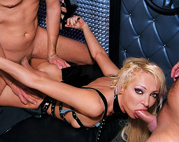 Private  porn video: The Beautiful Blonde Nomi Gets a DP in This Hardcore MMF Threesome