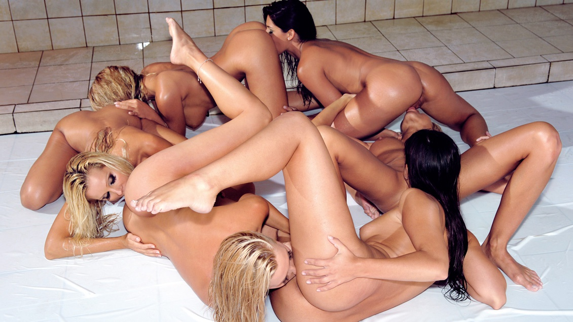 A Lesbian Orgy with Eve Angel, Zafira, Clara G and More