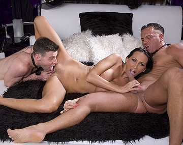 Private HD porn video: Mandy Bright Gets in Bed with Two Guys to Have Her Snatch Fucked Hard