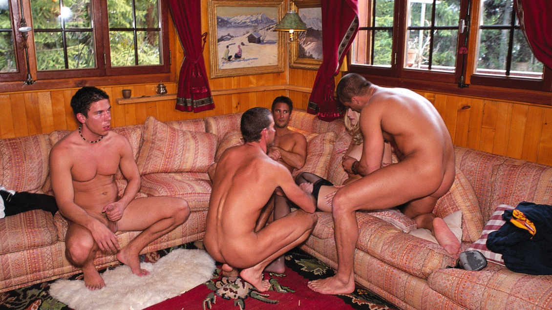 Sandra Mark Loves when All Three Cock Sockets Are Filled in Gang Bang