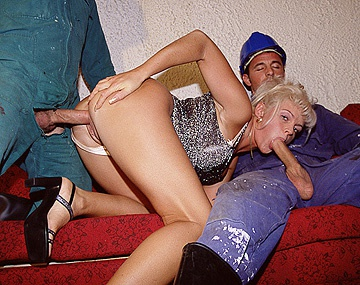 Private  porn video: Blonde Starlet Christina Takes on Two Guys at Once